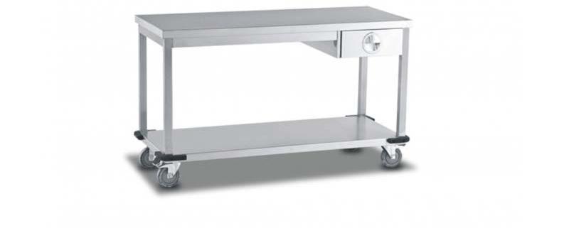 Mobile Table With Single Drawer/Single U/S